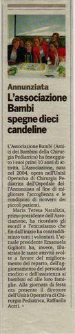 Gazzetta 15.05.2104 decennale